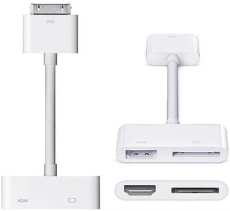 Digital AV Adapter [Support iOS 9, iOS8] 30Pin to HDMI and Dock Charger Adapter Converter Connector Cable for Apple iPhone 4 iPhone 4S iPad 2 iPad 3