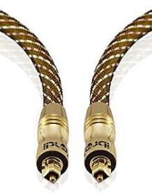 Premium Gold Range - 1m Toslink Cable S/PDIF SPDIF High Resolution Professional Digital Optical Cable with 24K Gold Casing suitable for PS3 Sky Sky HD LCD LED Plasma Blu Ray Bluray DTS Dolby Surround
